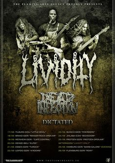 HARD N' HEAVY NEWS: DICTATED - TO SUPPORT LIVIDITY & DEAD INFECTION ON THEIR EUROPEAN TOUR