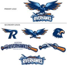 independent league in our town released a new logo today. These are the secondary logos, and a couple of them are NOT too bad! N Logo Design, Mascot Design, College Football Logos, Hawk Logo, Fly Logo, Sports Team Logos, Eagle Logo, School Logo, Great Logos