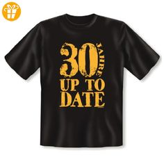 Cooles T-Shirt zum Geburtstag - 30 JAHRE UP TO DATE - Top Geschenk oder Mitbringsel. Farbe: schwarz - Shirts zum 30 geburtstag (*Partner-Link)
