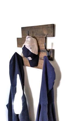 Stained Shelf - Wall Shelf - Shelf With Hooks - Shelf Decor - Shelf Unit - Shelf Coat Hooks - Rustic Shelves - Rustic Shelf -Rustic Shelving by RenewedDecorStorage on Etsy