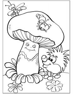 Ягоды, фрукты и овощи раскраски Colouring Pages, Coloring Sheets, Coloring Books, Educational Activities For Preschoolers, Coloring For Kids, Fall Coloring, Stuffed Mushrooms, Doodles, Drawings