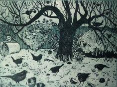 Blackbirds windfall by Janis Goodman