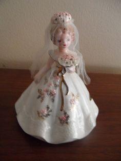 Vintage Original Josef Musical Figurine Bride by SilveryLane, $25.00