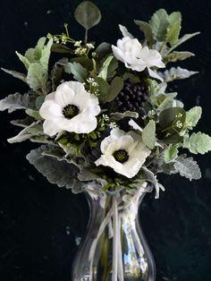 Diy Wedding Bouquet, Diy Bouquet, Wedding Flowers, Artificial Hydrangea Flowers, Silk Flowers, Bush Plant, Plant Leaves, Dusty Miller Bouquet, Leafy Plants