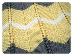Crochet Baby Blanket She Is Crafting My Doom: Striped Chevron Baby Blanket - Free Knitting Pattern! Free Baby Blanket Patterns, Crochet Baby Blanket Beginner, Chevron Baby Blankets, Chevron Blanket, Knitted Baby Blankets, Afghan Crochet Patterns, Baby Knitting Patterns, Free Knitting, Shawl Patterns