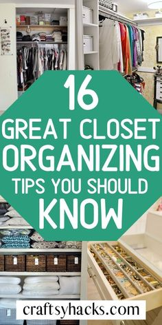 Whether it's summer closet organization ieas or generally organizing tips that you're looking for, you'll love these small home hacks.Organize your closets at home easily and have more time for other things other than searching for clothes.