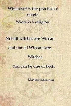Witchcraft Vs Wicca