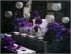 Wedding Flower Guide Purple Flowers Floral Party Decorations Birthday