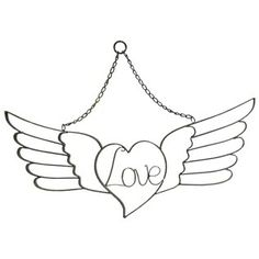 Distressed Black Love Metal Wall Art with Wings | Shop Hobby Lobby- in Memory of my brother Evan.