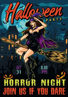 Colorful Halloween vector poster. Download Halloween vector designs on our website. High quality, editable text.