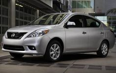 A bare-bone 2012 Versa Sedan costs as little as $11,750 and boast gas mileage of 31 MPG. The standard four-door sedans come with a 109-horsepower, 1.6-liter engine with four cylinders and a five-step manual gearbox. The cheapest model doesn't come with any fancy features (air conditioning is a standard on all subcompact models though). A model equipped with cruise control, power windows, navigation and USB controls is sold for around $18,000.