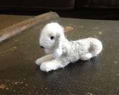 Needle felted Bedlington Terrier.  How I love this breed.