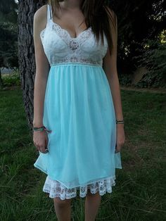 Mint flowy sheer dress by PoolsofLaughter on Etsy, $85.00