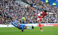 Giroud scores during #Brighton v #Arsenal in the #FACup.