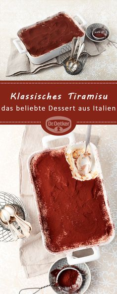 What is missing as a banana fan mostly in your tiramisu? With us you get a heavenly recipe that combines tiramisu and bananas. Mini Desserts, Desserts For A Crowd, Classic Desserts, Strawberry Desserts, Lemon Desserts, Christmas Desserts, Easy Desserts, Christmas Recipes, Tiramisu Dessert
