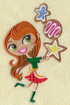 Christmas Sprite with Sugar Cookies design (G8198) from www.Emblibrary.com