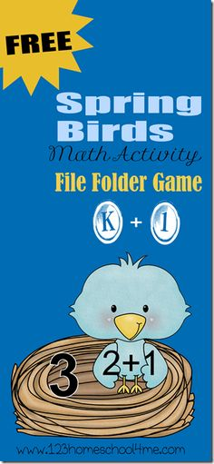 *FREE* Spring Birds Addition Game