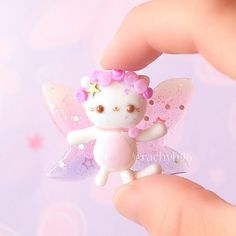 Hi everyone! Today I have this new creation to show you.. A pastel fairy kitty! I was inspired by Jamie @lemonteacharm to make something in a more magical style and came up with this! The body is made using polymer clay and the wings are made using UV resin, pigments and glitter to get a nice gradient. I'm really happy with how it turned out for my first time trying this method, so I can't wait to maybe make some more winged creations! Hope you like it! ✌ #polymerclay #polymer ...