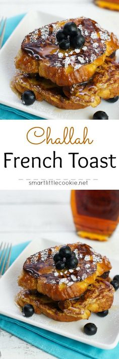 Challah French Toast ~ This classic french toast made with challah bread, milk, eggs, cinnamon and vanilla is the perfect meal to enjoy with the family for breakfast or brunch.