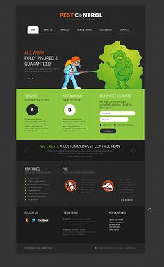 Grabs Full Pixels » Tutoring Education  WordPress 3 x Template 45085 http   www zign nl     Pest Control Responsive Website Template