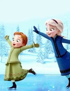 Baby Anna and Elsa :)