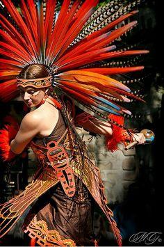 Aztec Dancer beautiful costume
