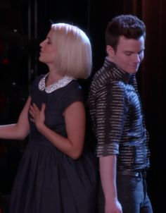 Quinn Fabray and Kurt Hummel, glee, Dianna Agron and Chris Colfer