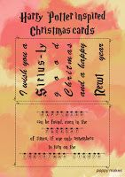 Poppy Makes... Harry Potter inspired Christmas cards. On my blog you'll 8 FREE to download Christmas cards. Including these Gryffindor inspired ones. Have fun!  #PoppyMakes #DIY #Craft #Crafting #FREE #Printable #Template #Xmas #Christmas #ChristmasCards #HarryPotterChristmasCard #HarryPotterQuote #HarryPotter #Ron #Hermione #Dumbledore #Dobby #HP #8DaysTillChristmas #LinkInBio
