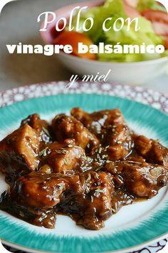 foto del pollo con vinagre balsamico y miel