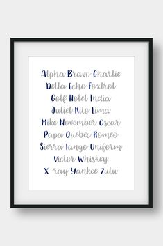 NATO Phonetic Alphabet, Aviation Decor, Pilot Gift, Boys Room Decor, Gift For Him, Morse Code, Military Decor  26 code words assigned to the 26 letters of the English alphabet. Ideal for pilots, future pilots or aviation enthusiasts. Aviation Art for your home or your office. #phoneticalphabet #alphabet #pilotgift #aviationdecor #kidsroomdecor #giftforhim #boysroomdecor  #militarydecor Airplane Wall Art, Airplane Decor, Nato Phonetic Alphabet, Aviation Decor, Bunny Nursery, Pilot Gifts, Camera Art, Printable Bible Verses, Affordable Wall Art