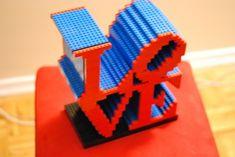 LEGO love statue. 1272 bricks in total
