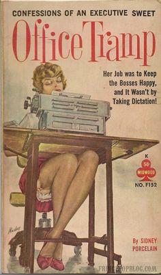 """Office Tramp"" | Vintage Pulp Fiction Paperback Book Cover Art"