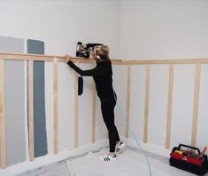 Board and Batten with 1x3's | DIY Board and Batten