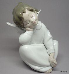 Lladro #Figurine #DreamingAngel Porcelain Spain 6.5in Boxed 1980s Never Displayed #Lladro