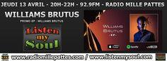 Radio Mille Pattes : invité live et Itw pour l'émission Listen My Soul le 13/04/2017