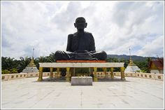 Por Than Klai statue by Wat Kaew Manee Sri Mahatat, southwest Phang Nga