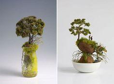Paisajes en miniatura en los artículos para el hogar y cosas - el trabajo de Kendall Murray