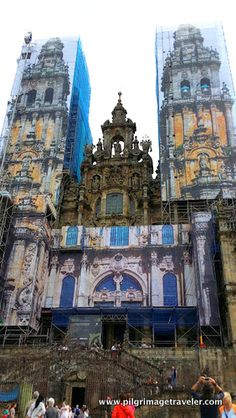 The final destination of the pilgrim on the Camino de Santiago is the Cathedral of Santiago de Compostela in Spain. Here is the famous western façade where the pilgrim first enters at the end of his/her pilgrimage.