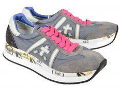 Premiata Conny Sneakers  Gray and Fuxia