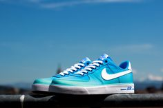 #Nike Air Force 1 AC BR QS Polarized Blue #sneakers