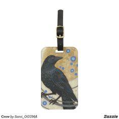 Beatiful Crow and full gold moon  Bag Tag by Satoi Oguma.