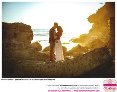 Who can resist sandy beaches, golden skies and a beautiful couple in love? You don't want to miss Elizabeth & Mark's gorgeous engagement photos by CMG Imagery! Head over to the blog NOW at www.realweddingsmag.com  #CMGImagery #JustEngaged #SacramentoEngagements #SacramentoWeddings #RealWeddingsMag #RealWeddingsSac