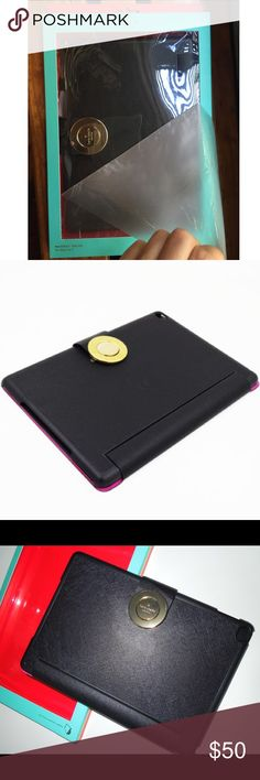 Kate Spade Ipad Air 2 Magnet Folio Case NWT Kate Spade Ipad Air 2 Magnet Folio Case // New with tags in original packaging // Multiple Viewing Modes // Very Chic Brand Logo Gold Tone magnet closure // 15% off on bundles // I ship same-day from pet/smoke-free home. Buy with confidence. I am a top seller here for a reason. 😊😎 kate spade Accessories Tablet Cases