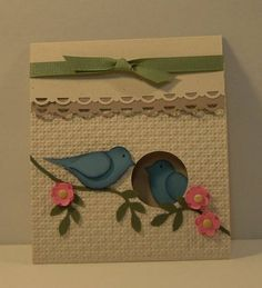 Paper: Naturals Ivory, Crumb Cake, Various scraps   Accessories: Bird Punch, Circle Punch, Scallop Border, flower punch