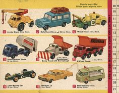 Matchbox Collector's Catalogue, 1968, by Wishbook, via Flickr.  I still have #'s 12, 13, 19 & 20
