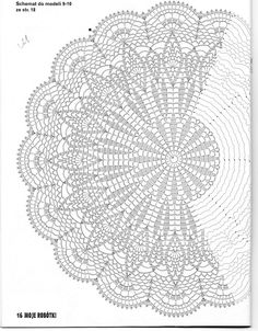 Use this pattern to make a Shaw, crochet on!use sports weight yarn or baby yarn. crochet doily by jest z 3 Poisk This Pin was discovered by Joa jacket, vest, or shawl Motif Mandala Crochet, Crochet Doily Diagram, Crochet Circles, Crochet Doily Patterns, Crochet Round, Crochet Chart, Thread Crochet, Filet Crochet, Mode Crochet
