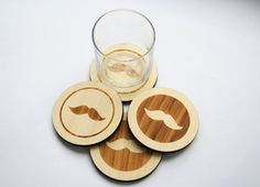 moustache coasters by masters of none