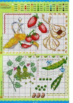 cuisine - kitchen - point de croix - cross stitch - Blog : http://broderiemimie44.canalblog.com/