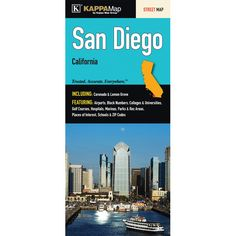 San Diego California Fold Map (Set of 2)