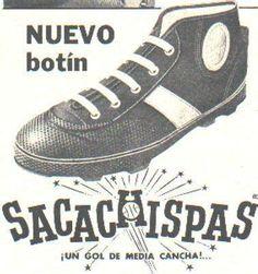 Botines Sacachispas Vintage Advertisements, Vintage Ads, Vintage Prints, Vintage Posters, Retro Logos, Soccer Shoes, Football Boots, Chuck Taylor Sneakers, Nostalgia